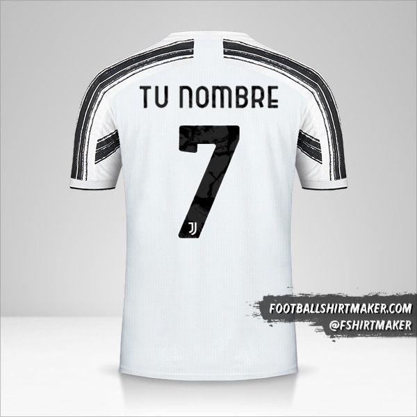 Camiseta Juventus FC 2020/21 Cup número 7 tu nombre