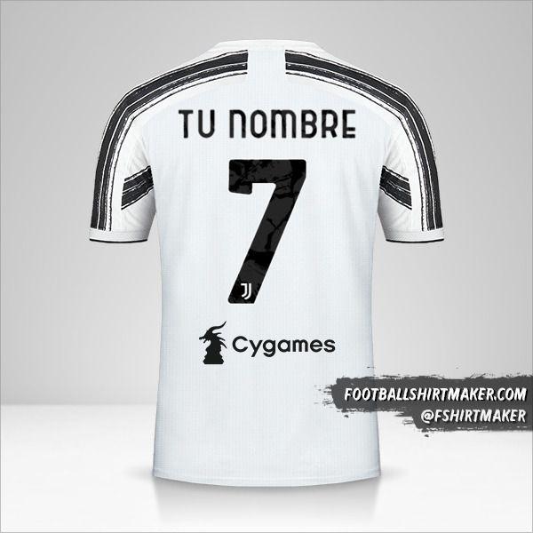 Camiseta Juventus FC 2020/21 número 7 tu nombre