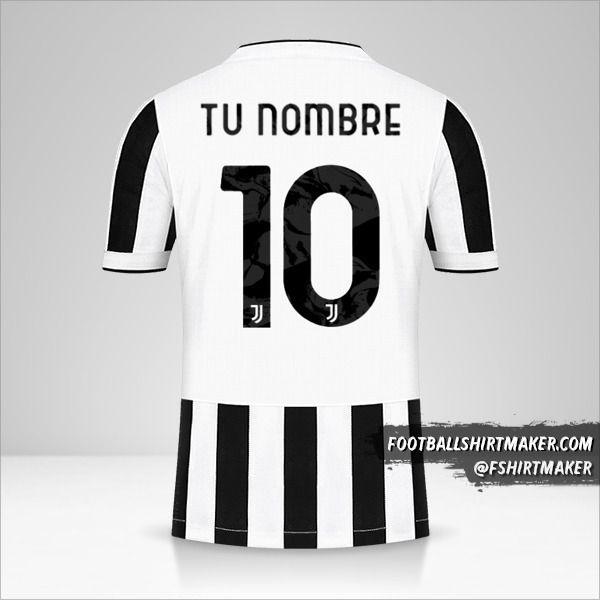 Camiseta Juventus FC 2021/2022 Cup número 10 tu nombre
