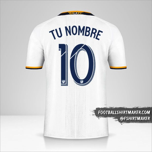 Camiseta LA Galaxy 2016/17 número 10 tu nombre