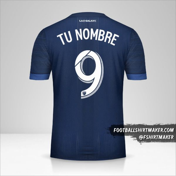 Camiseta LA Galaxy 2017/18 II número 9 tu nombre