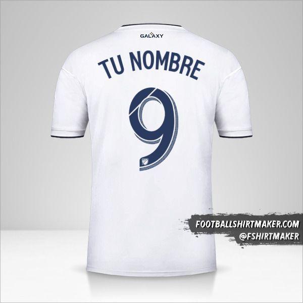 Camiseta LA Galaxy 2018/19 número 9 tu nombre