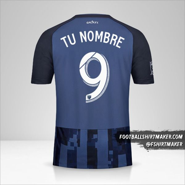 Camiseta LA Galaxy 2019 II número 9 tu nombre
