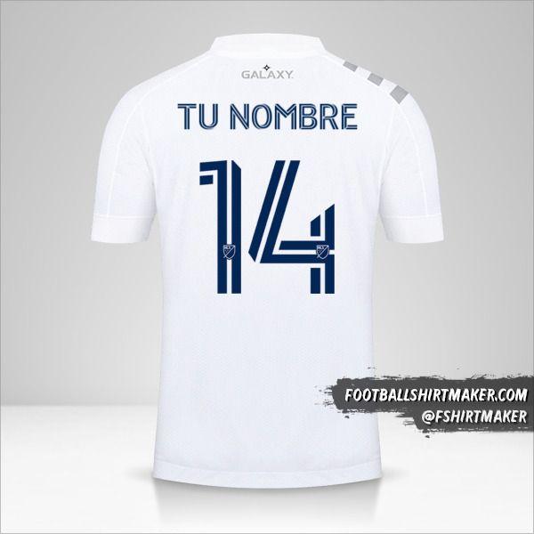 Camiseta LA Galaxy 2020 número 14 tu nombre