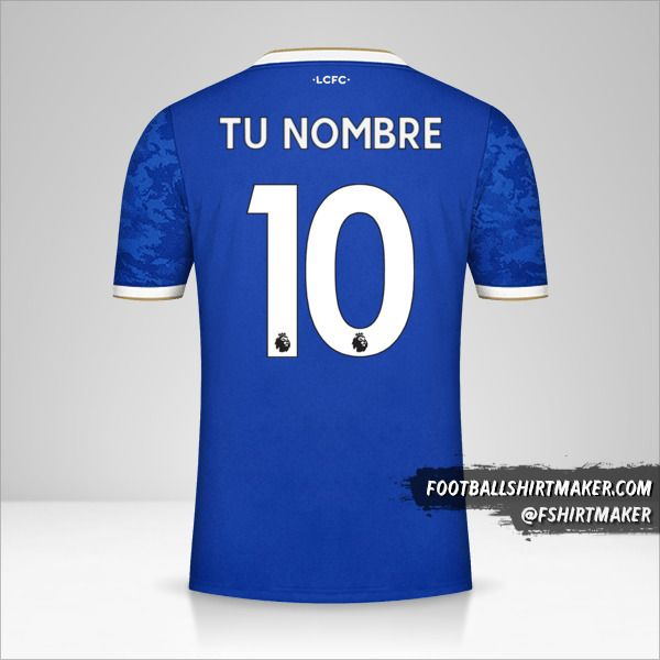 Camiseta Leicester City FC 2021/2022 número 10 tu nombre
