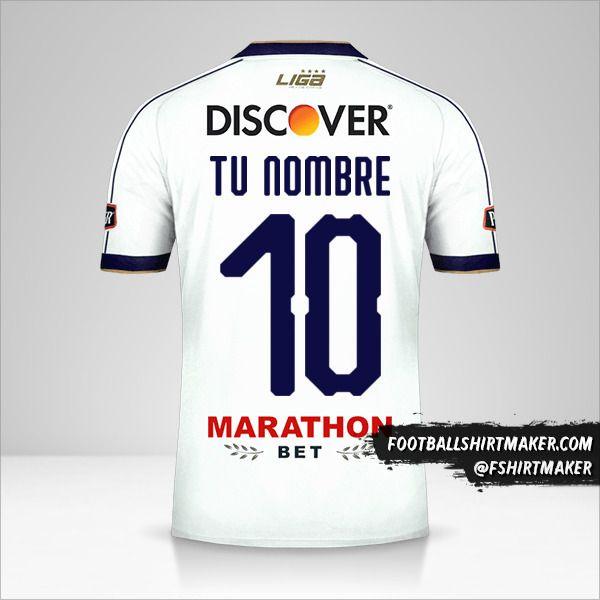 Camiseta Liga de Quito 2019 número 10 tu nombre