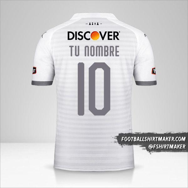 Camiseta Liga de Quito 2020 número 10 tu nombre