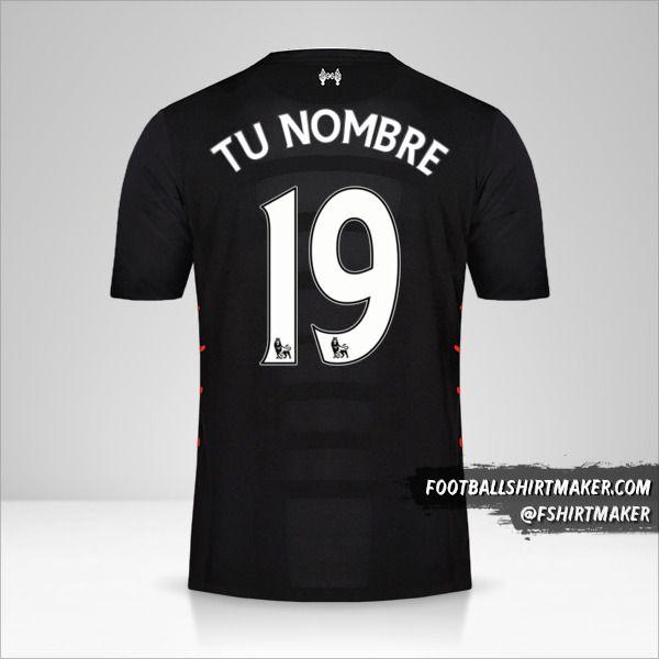 Camiseta Liverpool FC 2016/17 II número 19 tu nombre