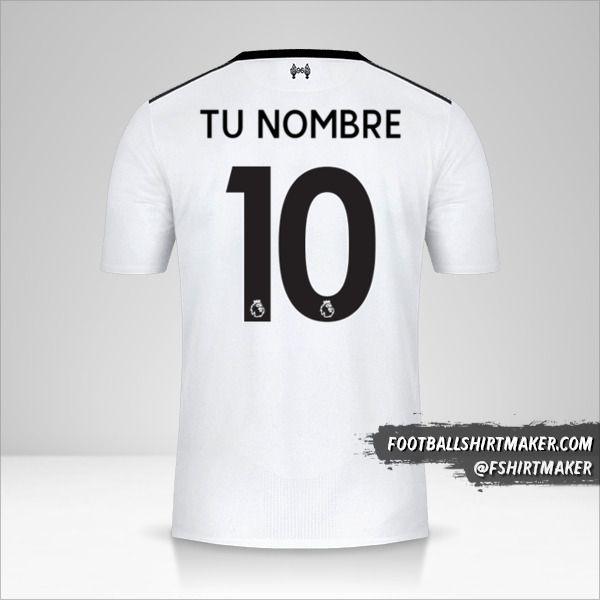 Camiseta Liverpool FC 2017/18 II número 10 tu nombre