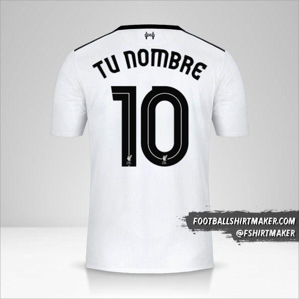 Camiseta Liverpool FC 2017/18 Cup II número 10 tu nombre
