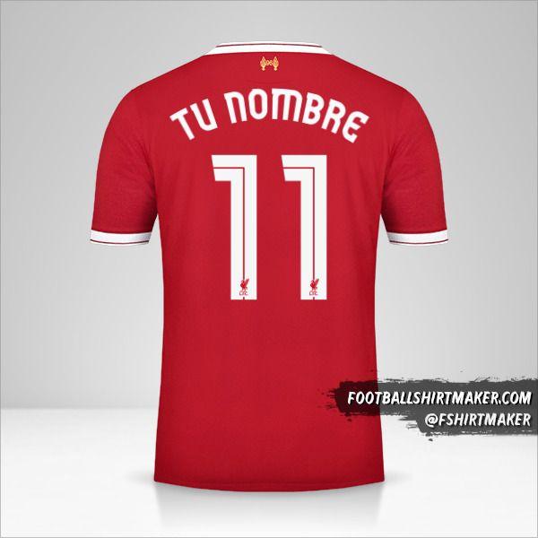 Camiseta Liverpool FC 2017/18 Cup número 11 tu nombre