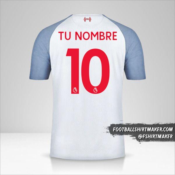 Camiseta Liverpool FC 2018/19 III número 10 tu nombre