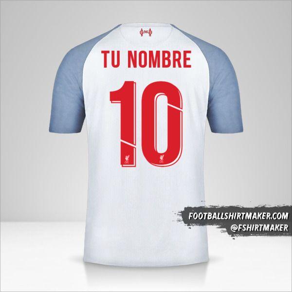 Camiseta Liverpool FC 2018/19 Cup III número 10 tu nombre