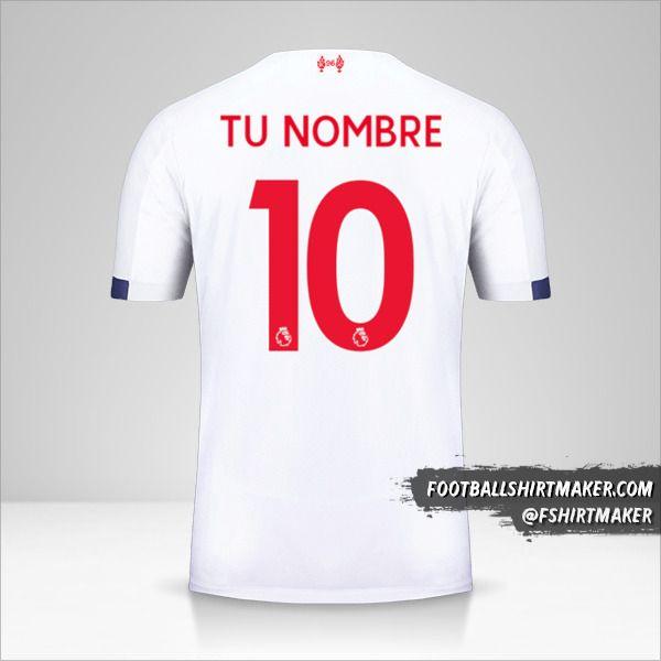 Camiseta Liverpool FC 2019/20 II número 10 tu nombre