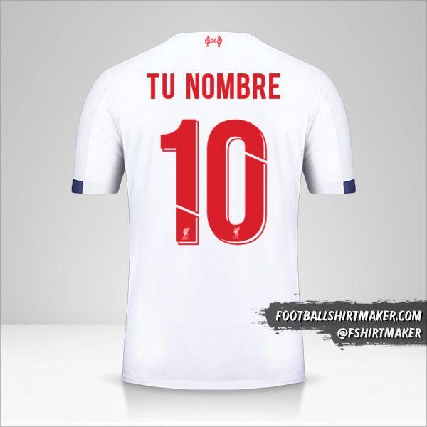 Camiseta Liverpool FC 2019/20 Cup II número 10 tu nombre
