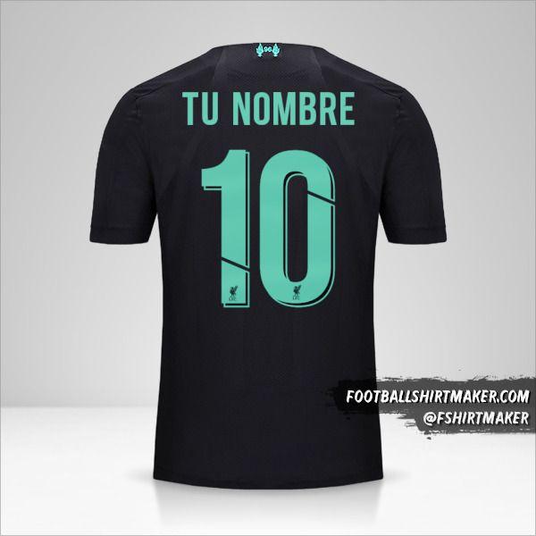 Camiseta Liverpool FC 2019/20 Cup III número 10 tu nombre