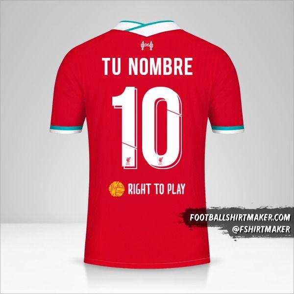 Camiseta Liverpool FC 2020/21 Cup número 10 tu nombre