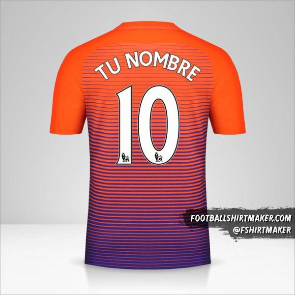Camiseta Manchester City 2016/17 III número 10 tu nombre