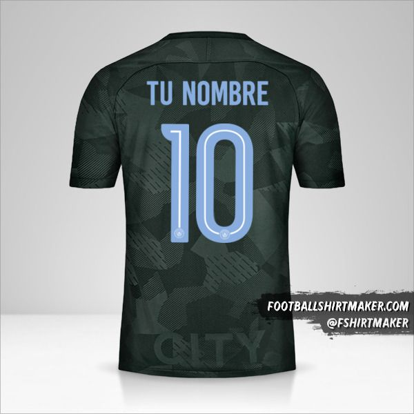 Camiseta Manchester City 2017/18 Cup III número 10 tu nombre