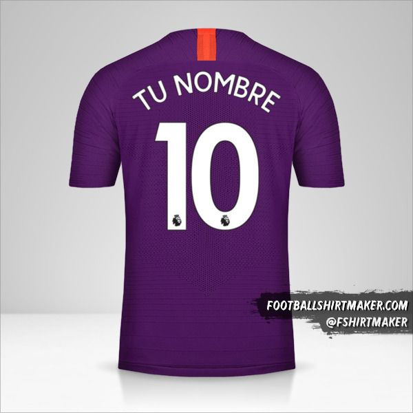 Camiseta Manchester City 2018/19 III número 10 tu nombre