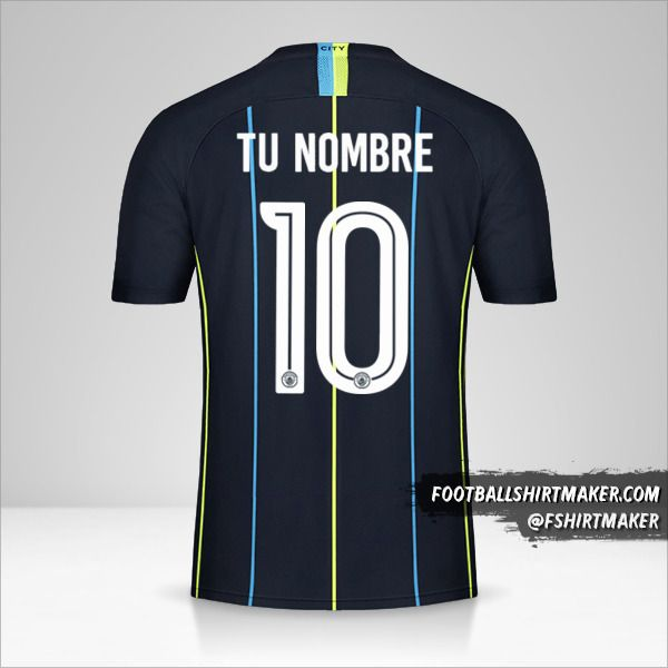 Camiseta Manchester City 2018/19 Cup II número 10 tu nombre