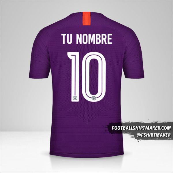 Camiseta Manchester City 2018/19 Cup III número 10 tu nombre