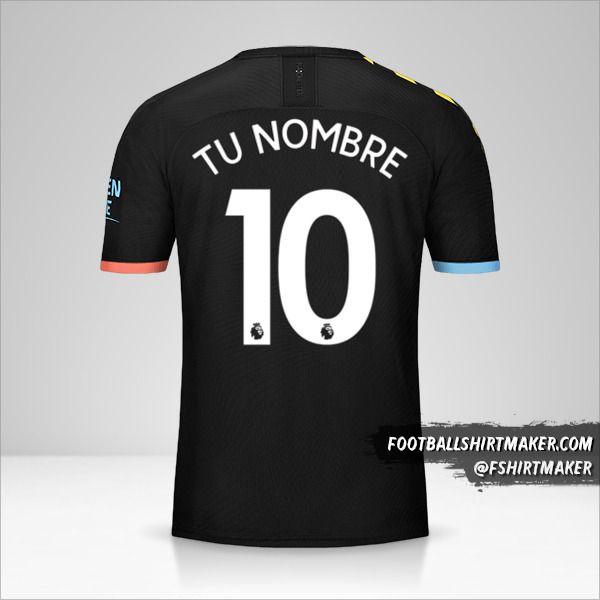 Camiseta Manchester City 2019/20 II número 10 tu nombre