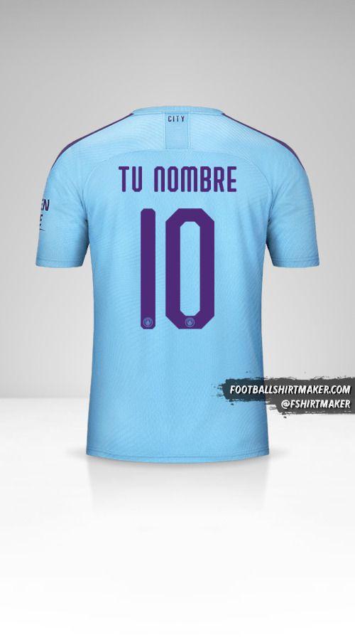 Camiseta Manchester City 2019/20 Cup número 10 tu nombre