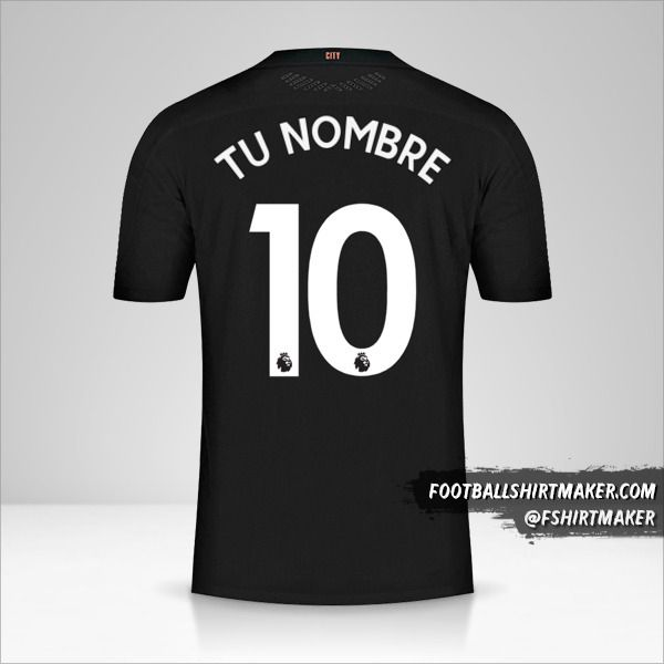 Camiseta Manchester City 2020/21 II número 10 tu nombre