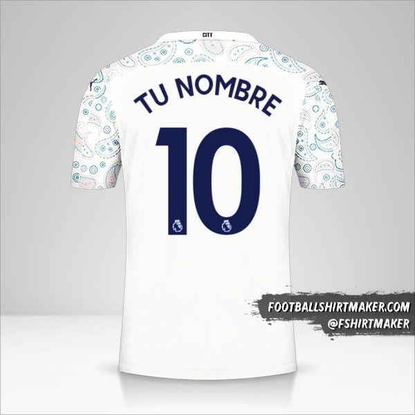 Camiseta Manchester City 2020/21 III número 10 tu nombre