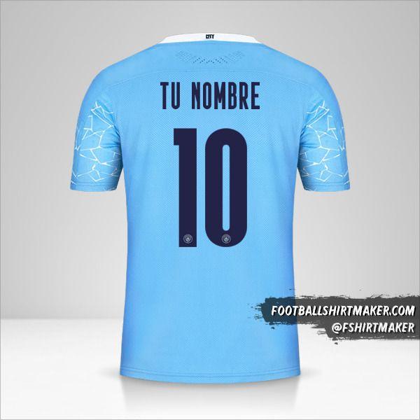 Camiseta Manchester City 2020/21 Cup número 10 tu nombre