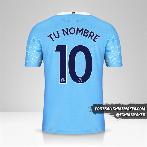 Camiseta Manchester City 2020/21 número 10 tu nombre
