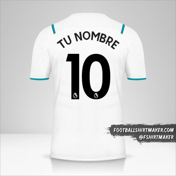 Camiseta Manchester City 2021/2022 II número 10 tu nombre