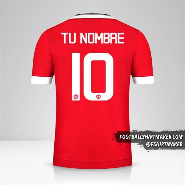 Camiseta Manchester United 2015/16 Cup número 10 tu nombre