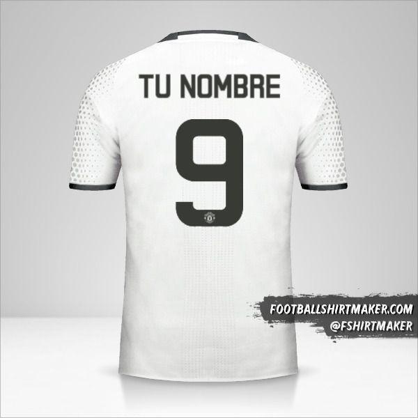 Camiseta Manchester United 2016/17 Cup III número 9 tu nombre