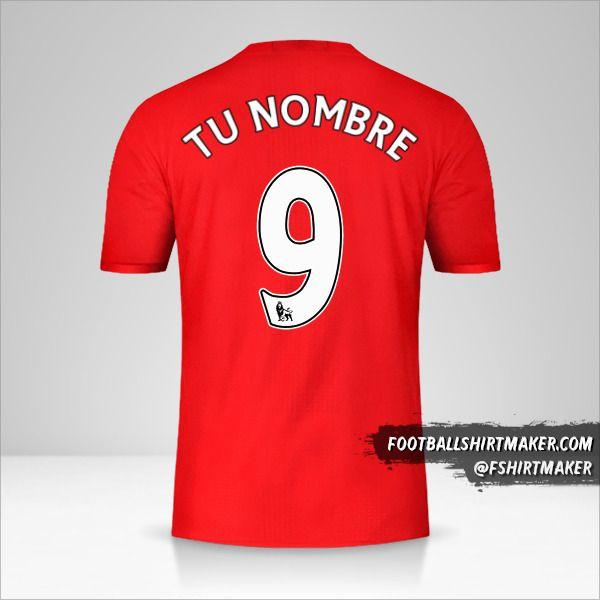 Camiseta Manchester United 2016/17 número 9 tu nombre