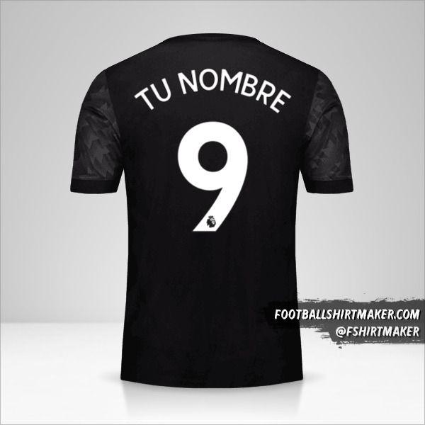 Camiseta Manchester United 2017/18 II número 9 tu nombre