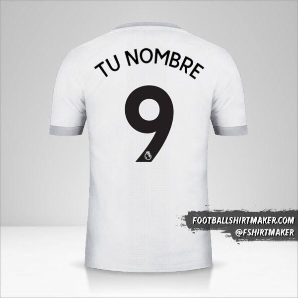 Camiseta Manchester United 2017/18 III número 9 tu nombre