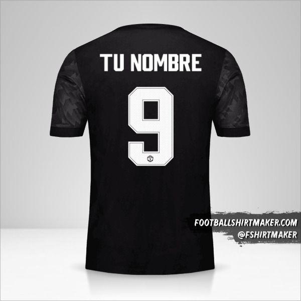 Camiseta Manchester United 2017/18 Cup II número 9 tu nombre