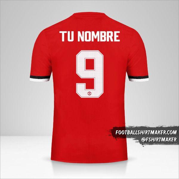 Camiseta Manchester United 2017/18 Cup número 9 tu nombre