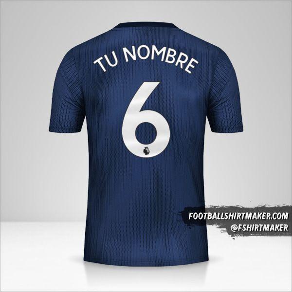 Camiseta Manchester United 2018/19 III número 6 tu nombre