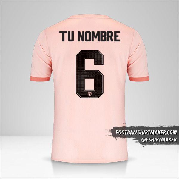 Camiseta Manchester United 2018/19 Cup II número 6 tu nombre