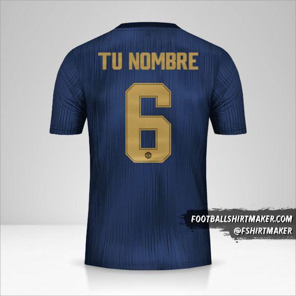 Camiseta Manchester United 2018/19 Cup III número 6 tu nombre