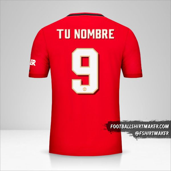 Camiseta Manchester United 2019/20 Cup número 9 tu nombre