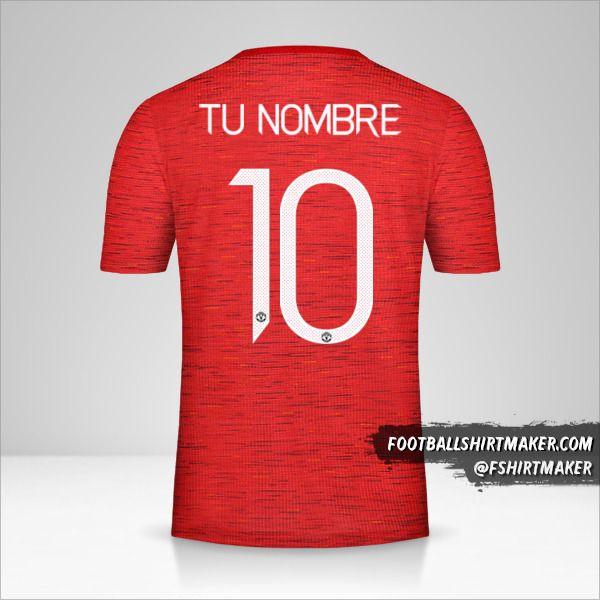 Camiseta Manchester United 2020/21 Cup número 10 tu nombre