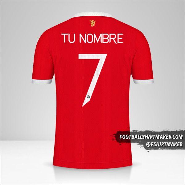 Camiseta Manchester United 2021/2022 Cup número 7 tu nombre