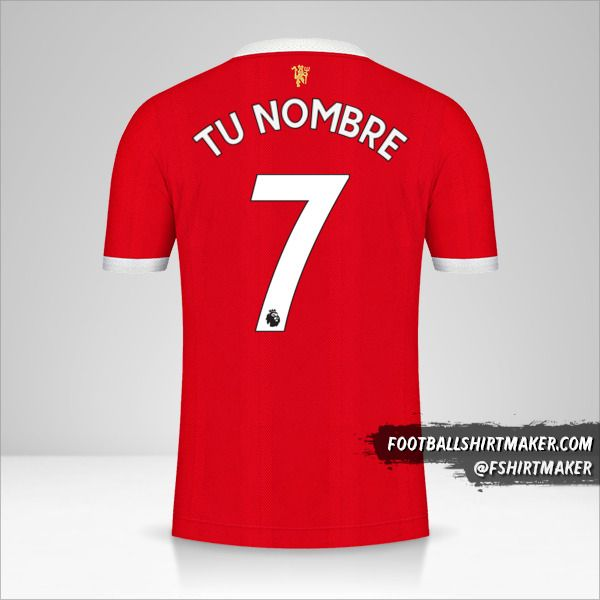 Camiseta Manchester United 2021/2022 número 7 tu nombre