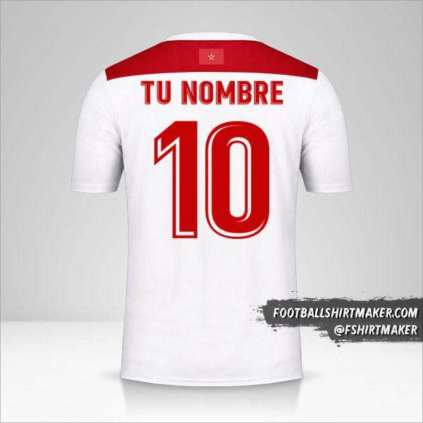 Camiseta Marruecos AFCON 2019 II número 10 tu nombre