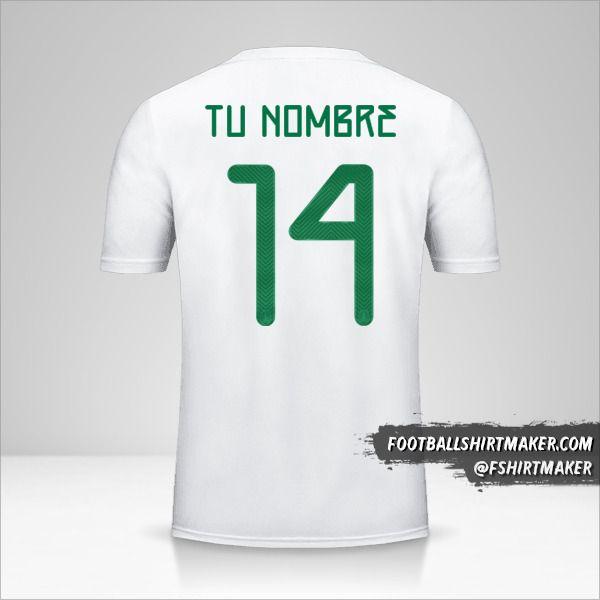 Camiseta Mexico 2019 II número 14 tu nombre