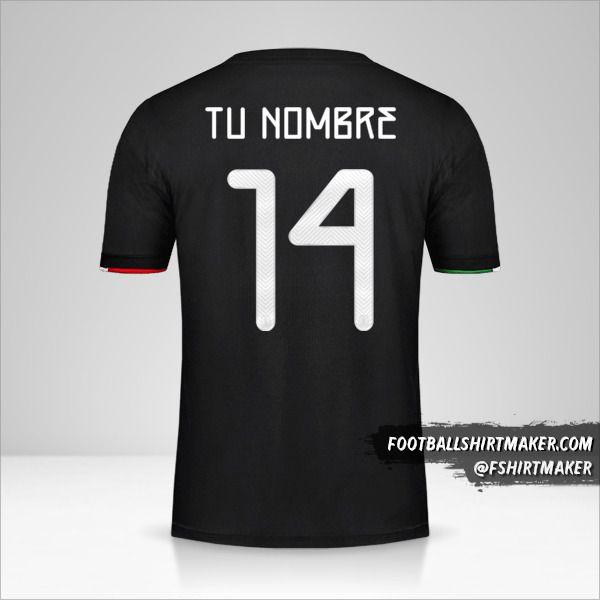 Camiseta Mexico 2019 número 14 tu nombre